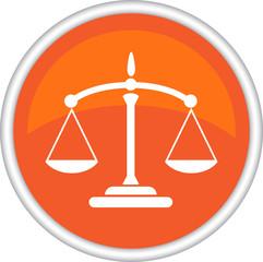 Круглый векторный знак с изображением весов