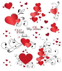 Herzen Set Liebe