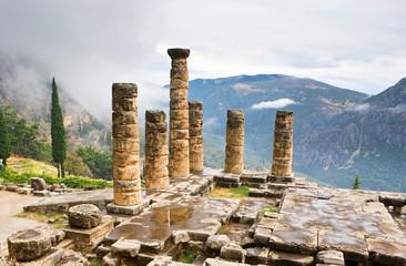 The antique columns