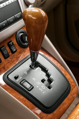 Automatic transmission gear shift.