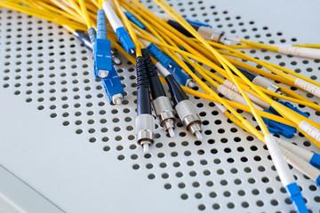 fiber optic cables in data center
