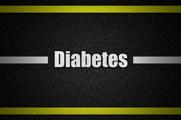 Traffic  road surface with text Diabetes