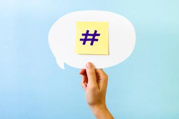 Social network hashtag
