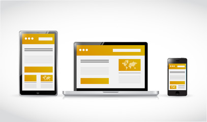websites web responsive concept illustration
