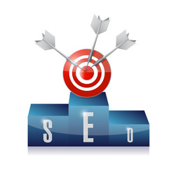 seo podium target illustration design
