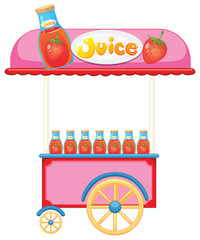 A strawberry juice cart