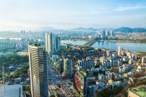 Poster Seoul Cityscape