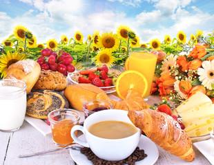 Leckeres, vielfältiges Frühstück im Freien genießen :)