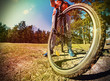Mountain Bike and blue sky background