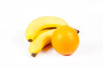 Банан с апельсином