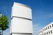 Firmenschild Stele außen umbeschriftet –Company Signboard - 65057882