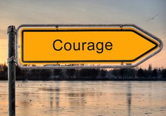Strassenschild 9 - Courage