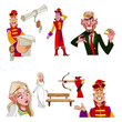 Russian fairy tale characters, set
