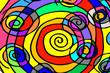 farbiger Spiralform-Hintergrund
