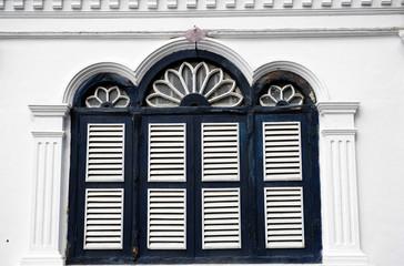 Chino Portuguese windows, chino Portuguese architecture style