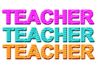 öğretmen yazı tasarımları