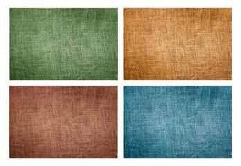 set of four natural canvas textures