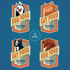 PET FOOD VERTICAL LABELS