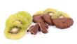 Kiwis mit Schokolade