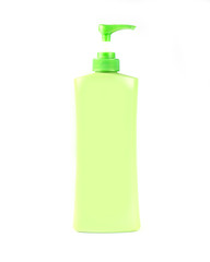 Foam Pump Bottle green,isolated on white background