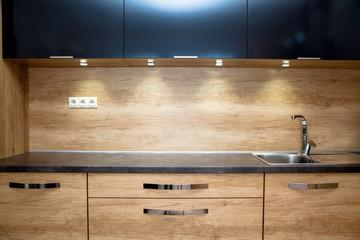 Modern furniture in the kitchen