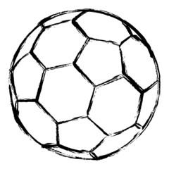 Fußball gezeichnet