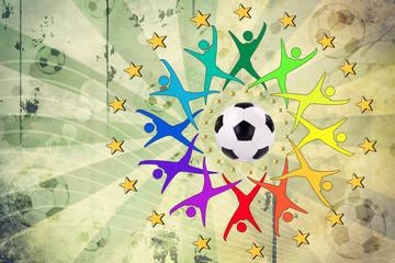 verschiedene Teilnehmer Fußballevent