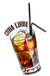 canvas print picture - Cuba libre cocktail