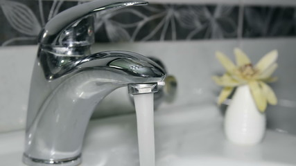 Modern Bathroom Faucet With Running Water