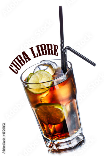 canvas print picture Cuba libre cocktail