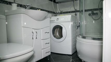 Luxury Modern Bathroom Suite with Washing Machine