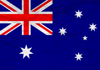 Australia flag crumpled paper