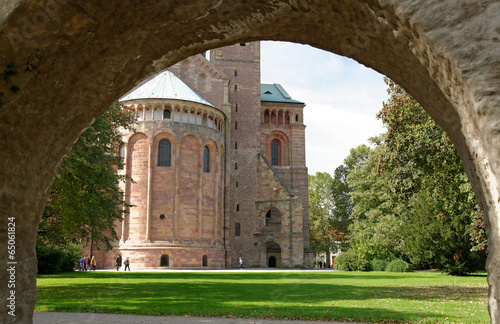 canvas print picture Park am Dom zu Speyer