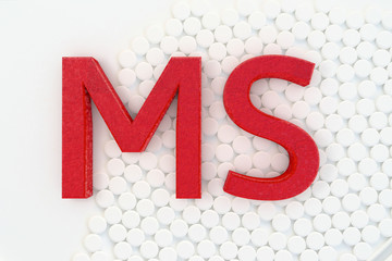 MS - 3d rendered illustration