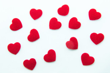 Heart shape on white background