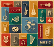 houettes of musical instruments - 65062480