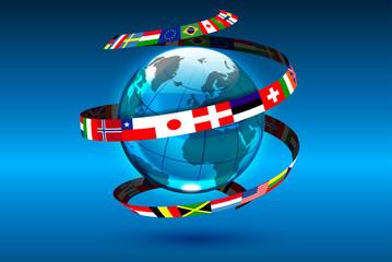 mondo bandiere, lingue del mondo