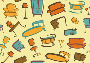 Seamless furniture background