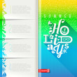 Summer holidays booklet template