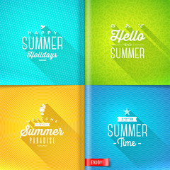 Set of summer holidays type design