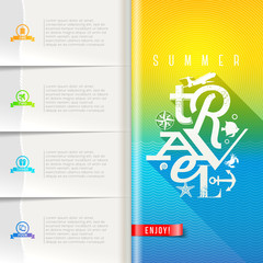 Summer travel booklet template