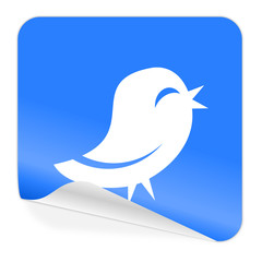 twitter blue sticker icon