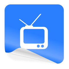 tv blue sticker icon