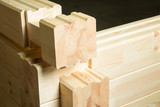 Element of glued timber construction poster