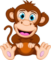 Monkey cartoon sitting