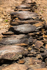 rock footpath