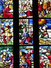 Particolare di una vetrata del Duomo di Milano