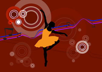 Ballet female. Vector