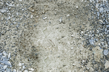 Gravel in mud texture background