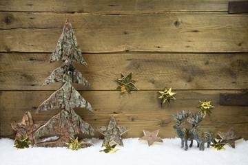 Natürlich dekorieren an Weihnachten mit Holz